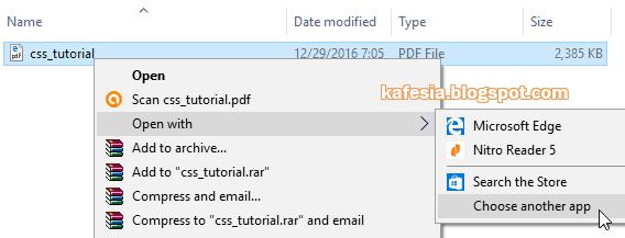 membuka pdf dengan edge