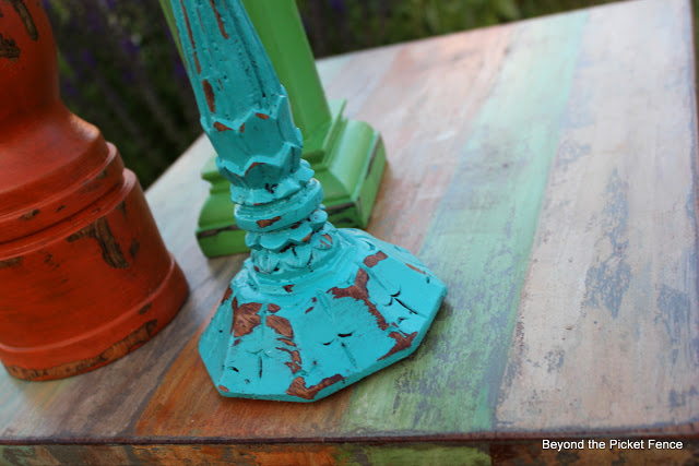 candlesticks, DIY, beach decor, paint, repurposed, https://goo.gl/uUYJOw