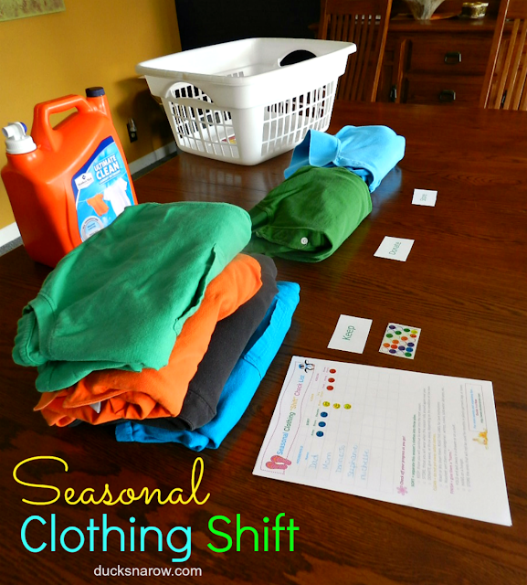 seasons, decluttering, minimizing, clothes care, wash day, laundry, free printables, check list