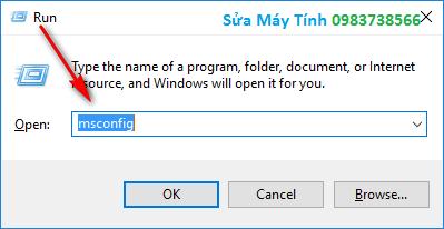Bấm Windows + R gọi hộp thoại Run