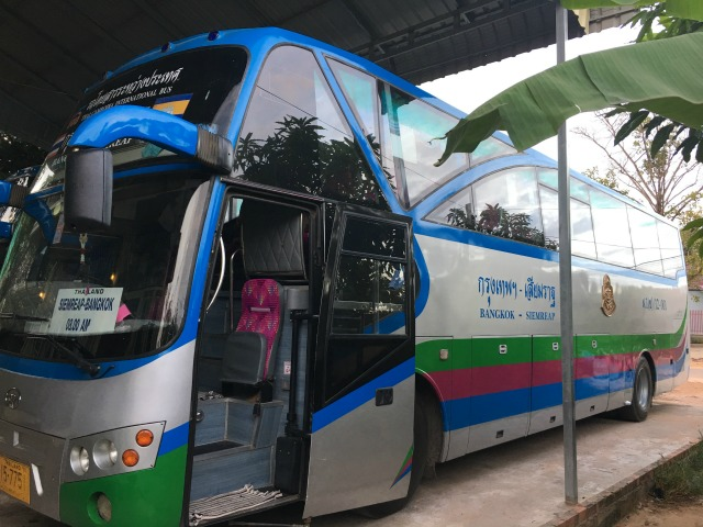 Nattakan Direct Bus Siem Reap, Cambodia to Bangkok, Thailand