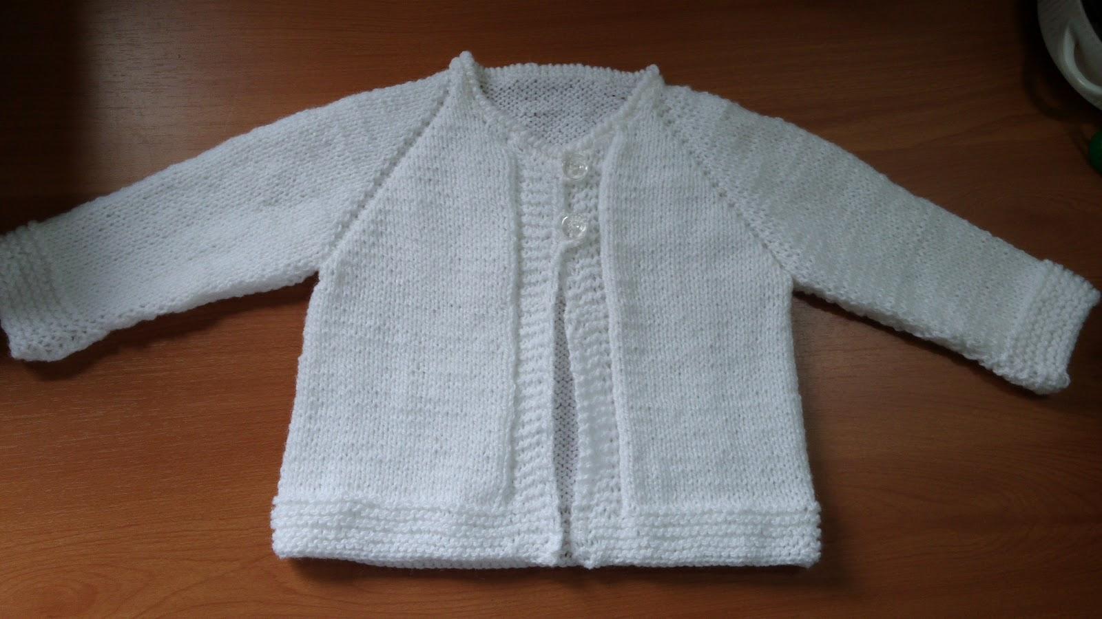 Curso de tejido a mano saquito o chaqueta para beb empezada desde el cuello - Tejer chaqueta bebe 6 meses ...
