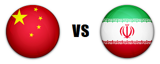 China versus Iran AFC quarterfinal match