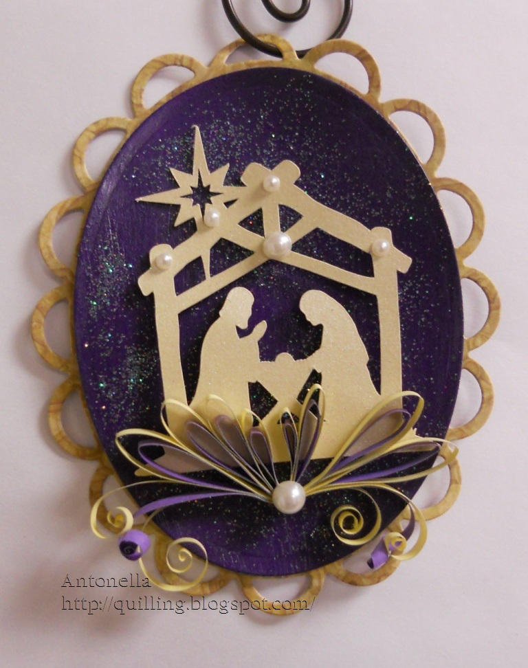 quilled quilling nativity ornament