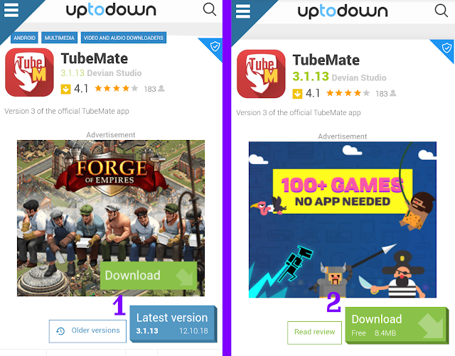 Download Aplikasi TubeMate di Uptodown