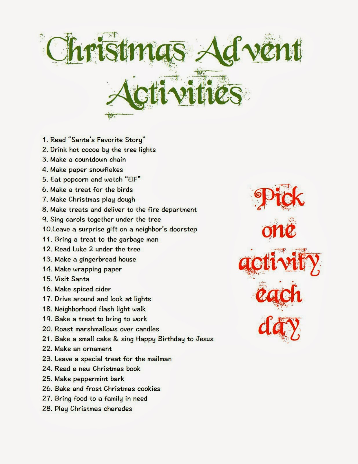 mothering with creativity christmas advent activities. Black Bedroom Furniture Sets. Home Design Ideas