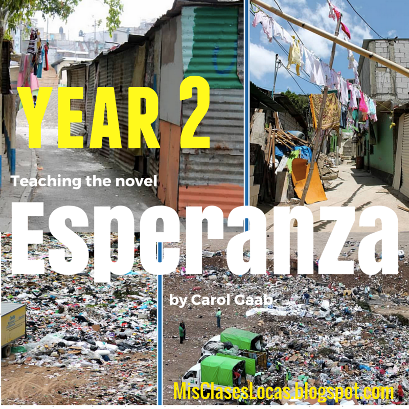 Teaching the novel Esperanza - Year 2