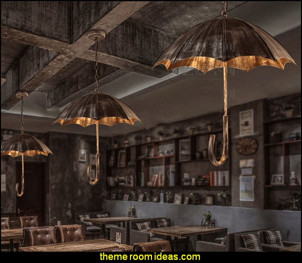 Metal Umbrella  Chandelier Light