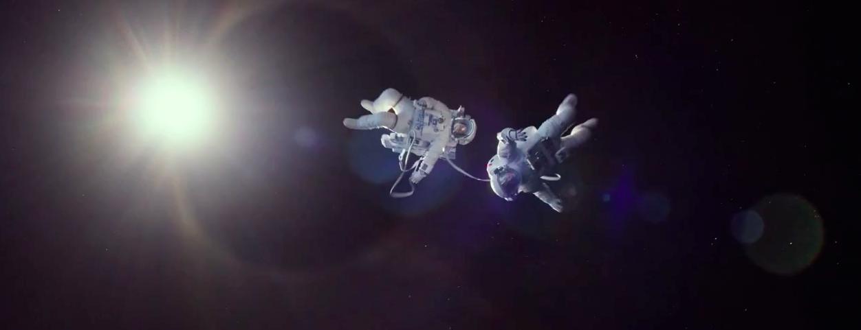 Fotograma de Gravity. Astronautas, espacio