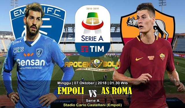 Prediksi Empoli vs AS Roma 7 Oktober 2018
