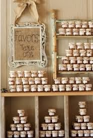 rustic honey favors display