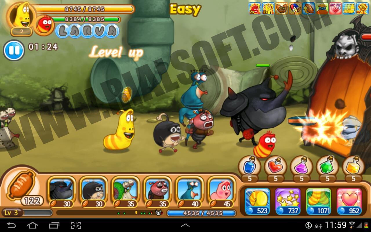 download game apk larva heroes