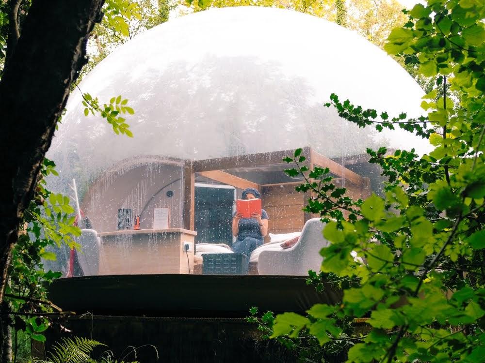 Sleeping In A Bubble Dome Finn Lough Resort Enniskillen Co Fermanagh