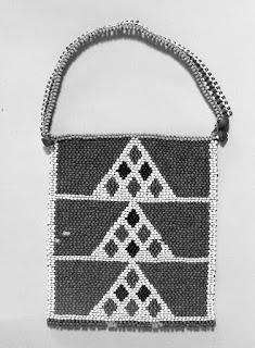 African brick stitch beadwork neck ornament.