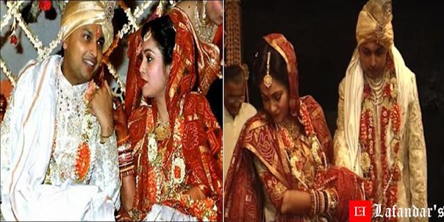 अनिल अम्बानी और टीना मुनीम अंबानी की शादी की तसवीरें