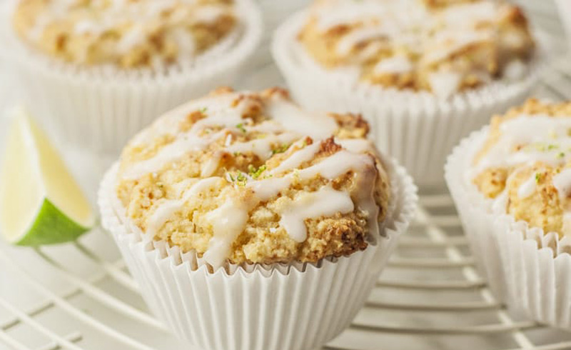 Glazed Coconut Lime Cupcakes