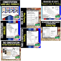 Constitution, Google Activities, American History Timelines, American History Word Walls, American History Test Prep, American History Outline Notes, American History by President Research, American History Mapping Activities, American History Biography Profiles, American History Interactive Notebooks