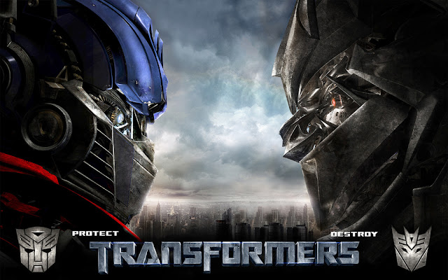 Wallpaper Transformers 4 Optimus Prime vs Megatron