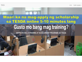 How To Apply ONLINE For TESDA Scholarship  application process 3 steps