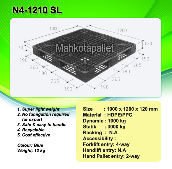Pallet Plastik N4-1210SL