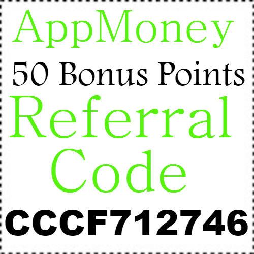 50 Bonus Points App Money Referral Code, Sign Up Bonus and Reviews