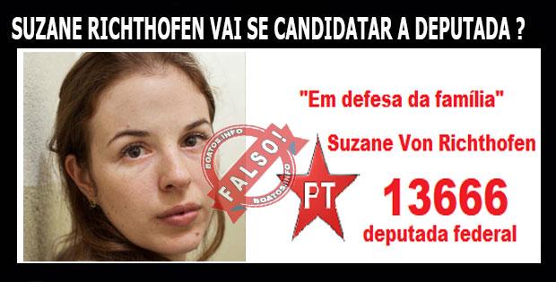Suzane Richthofen será candidata a Deputada Federal pelo PT