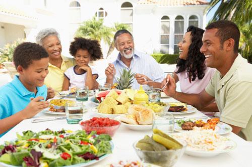 Autossustentável: Alimentação em família