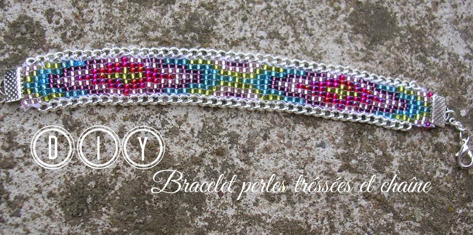 boucle d 39 aure diy bracelet perles tiss es et chaine. Black Bedroom Furniture Sets. Home Design Ideas