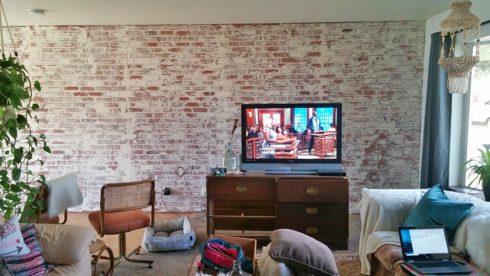 German schmear faux brick wall how to