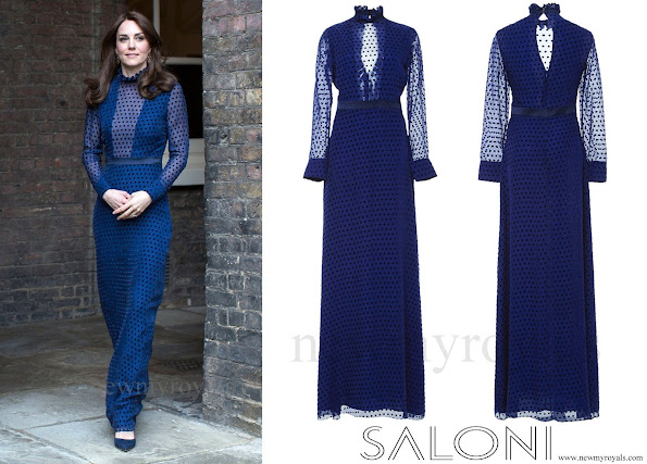 Prince William and his wife, most colored person of British Royal Family, Duchess Catherine of Cambridge, who will make an official visit to India and Bhutan. kate middleton wore saloni gown