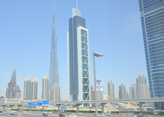 the view from Villa Rotana's prime location