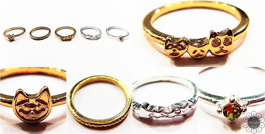 www.Zaful.com - Products - Reviews - 5 PCS Cat Rings - Online Shopping - Product Reviews at www.TheGracefulMist.com , @TheGracefulMist - Beauty, Fashion and Lifestyle - Online Shopping