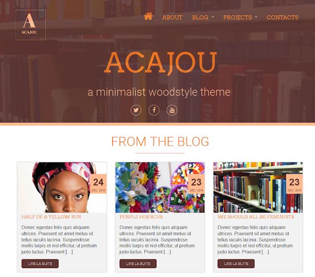 Acajou, un thème gratuit (et made in CIV) pour WordPress, A Unix Mind In A Windows World