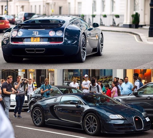 Bugatti Veyron Super Sport Blue Carbon Edition patente F1 Kahn