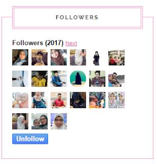 Follower sama dengan Tahun 2017
