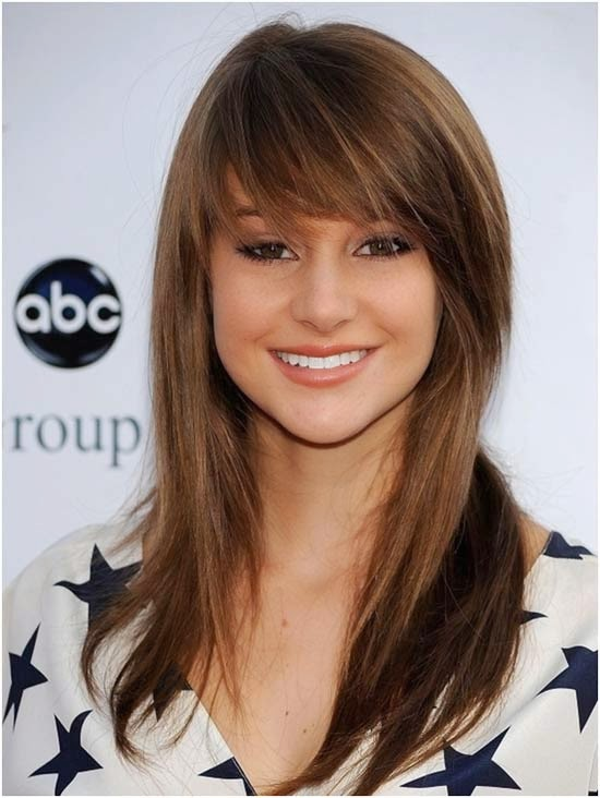 Choppy and Sleek Hairstyle with Bangs}