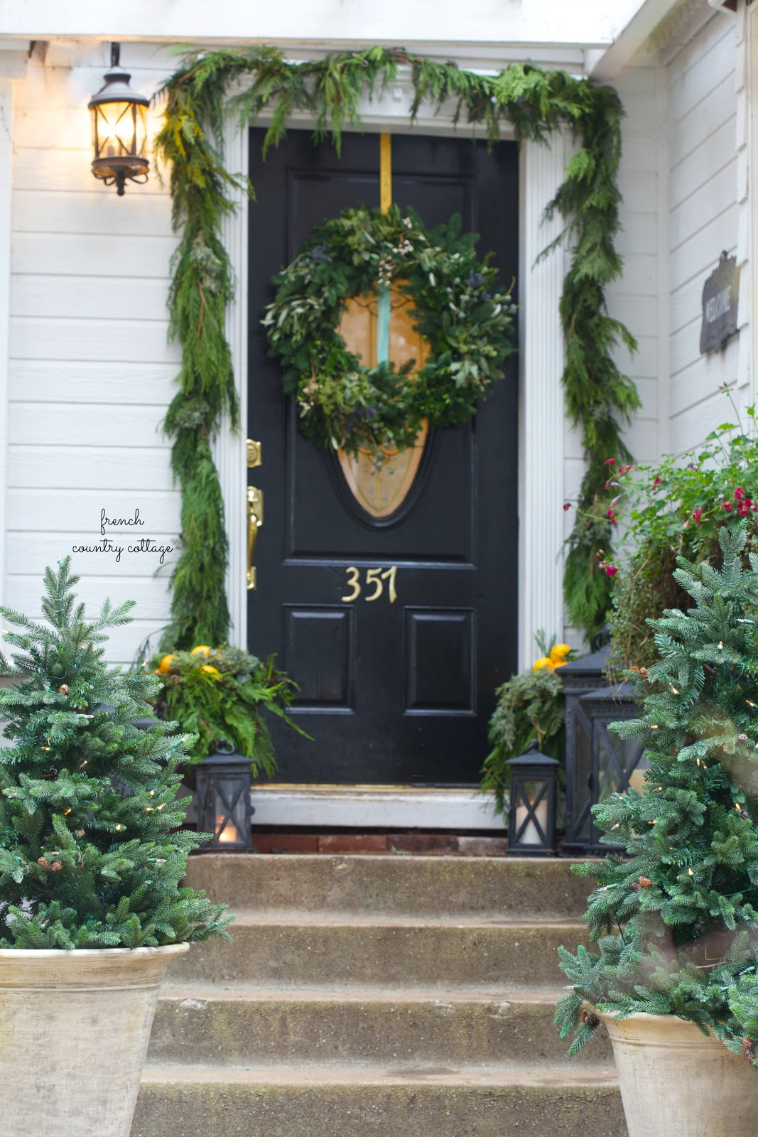 Simple Amp Natural Front Porch Decorating French Country