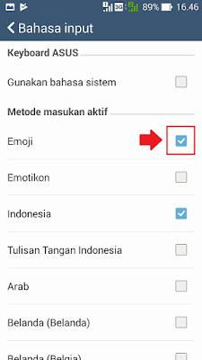 cara menampilkan atau memunculkan emoticon dan emoji di android
