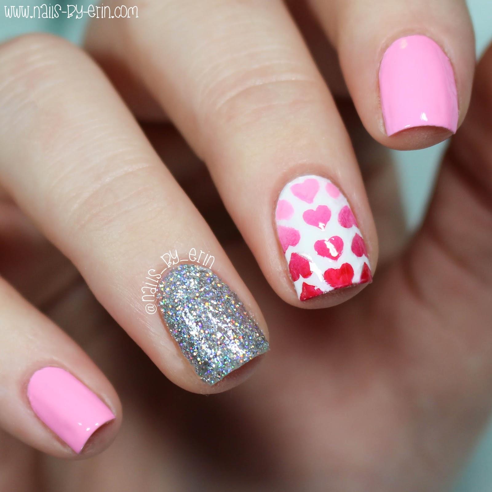 NailsByErin: Gradient Heart Nails