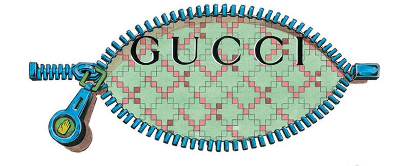 gucci logo by araki