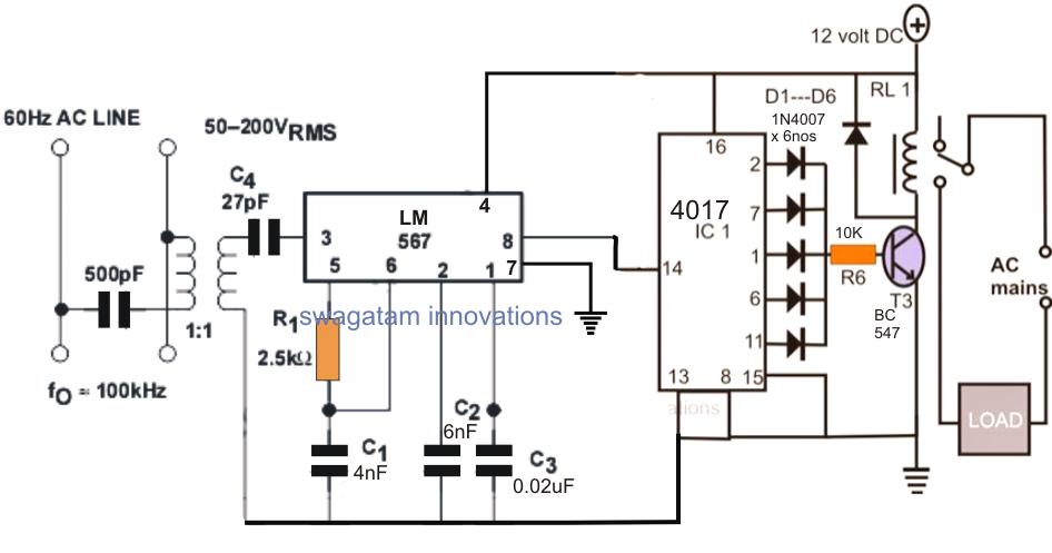lm567 tone decoder circuit