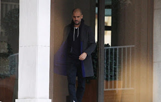 Manchester City manager Pep Guardiola visits the Catalan pro-independence leader in prison in Barcelona.