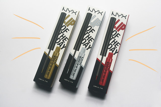 NYX Lip Of The Day Liquid Lip Liner Review and swatches