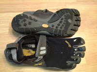 5 finger Vibram shoes and foot wear