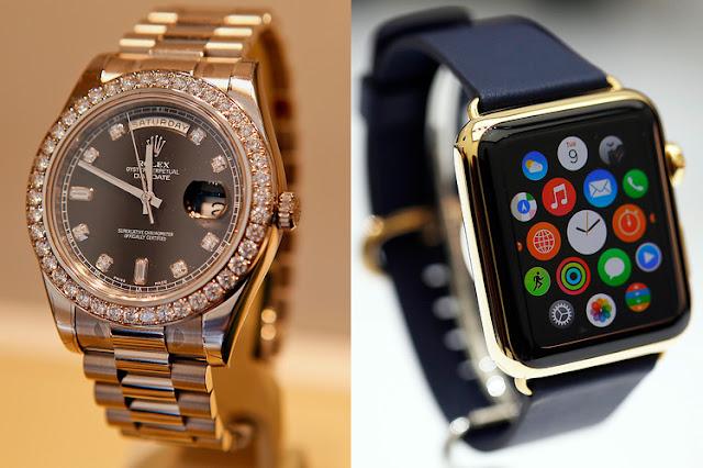 Rolex não foi páreo para a Apple Watch