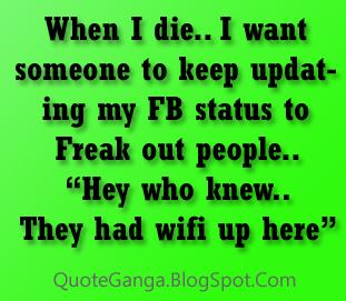 Jokes about When I die