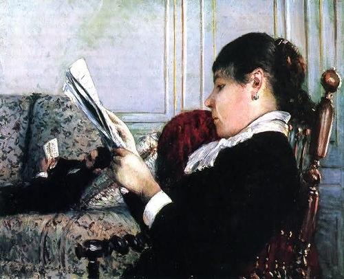 Gustave Caillebotte Читающая женщина в интерьере