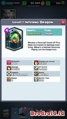 Inferno Dragon Kartu Legendary Clash Royale