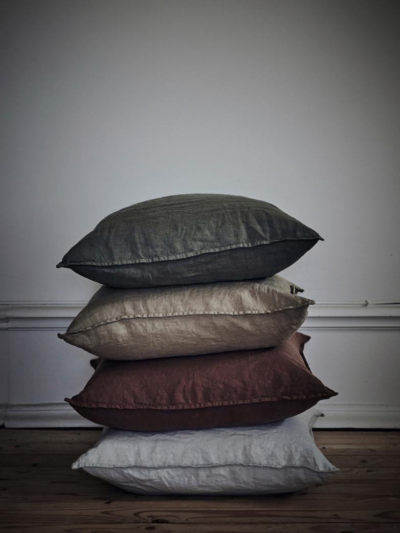 Lniane poszewki na poduszki