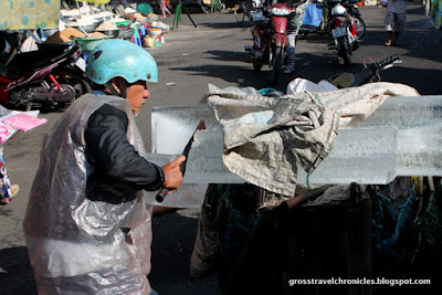 delivery of ice blocks